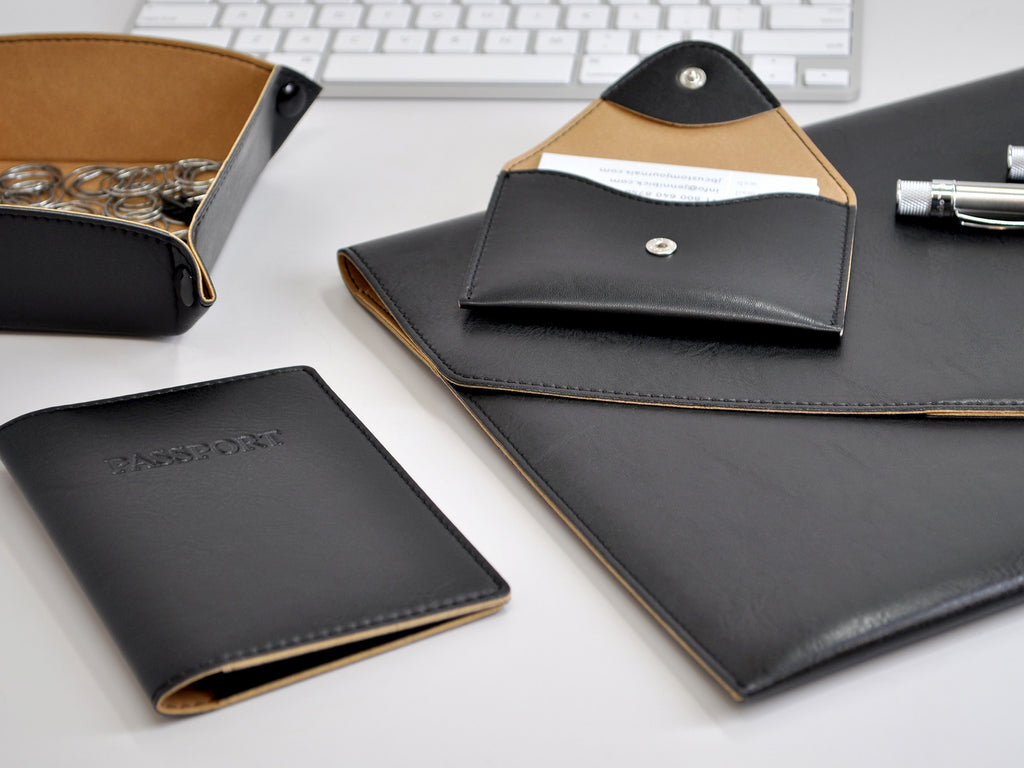 Chelsea Italian Leather Padfolio - Black
