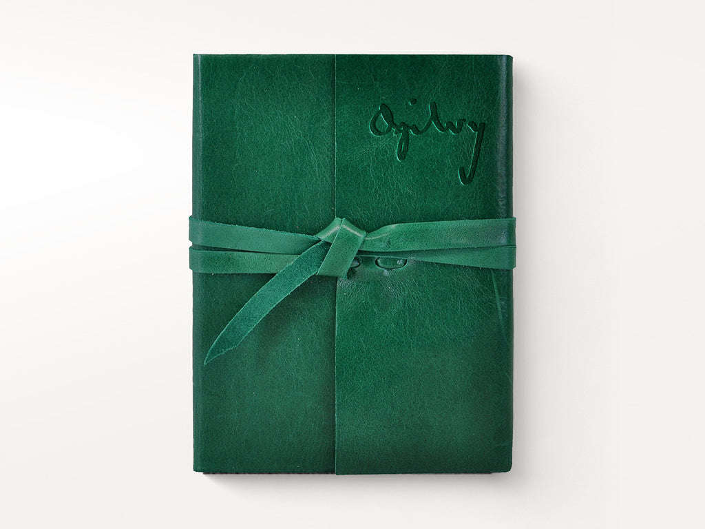 Islander Leather Journal With Wrap - Emerald-Notebooks-JB Custom Journals