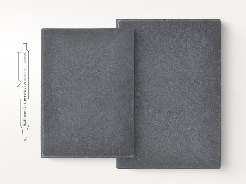 Harborview Leather Journal - Slate-Notebooks-JB Custom Journals