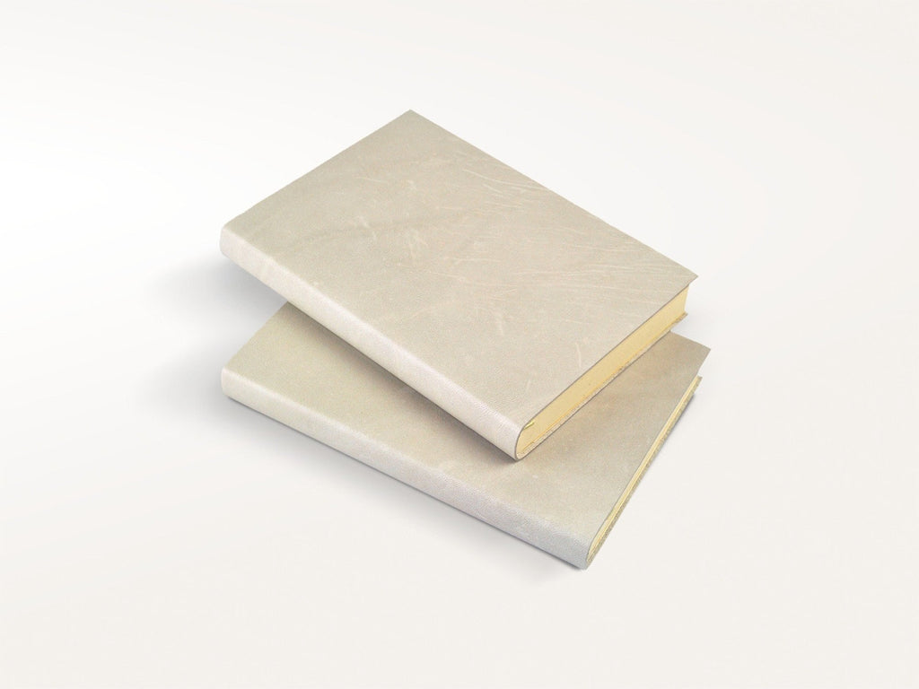 Harborview Leather Journal - Ivory-Notebooks-JB Custom Journals