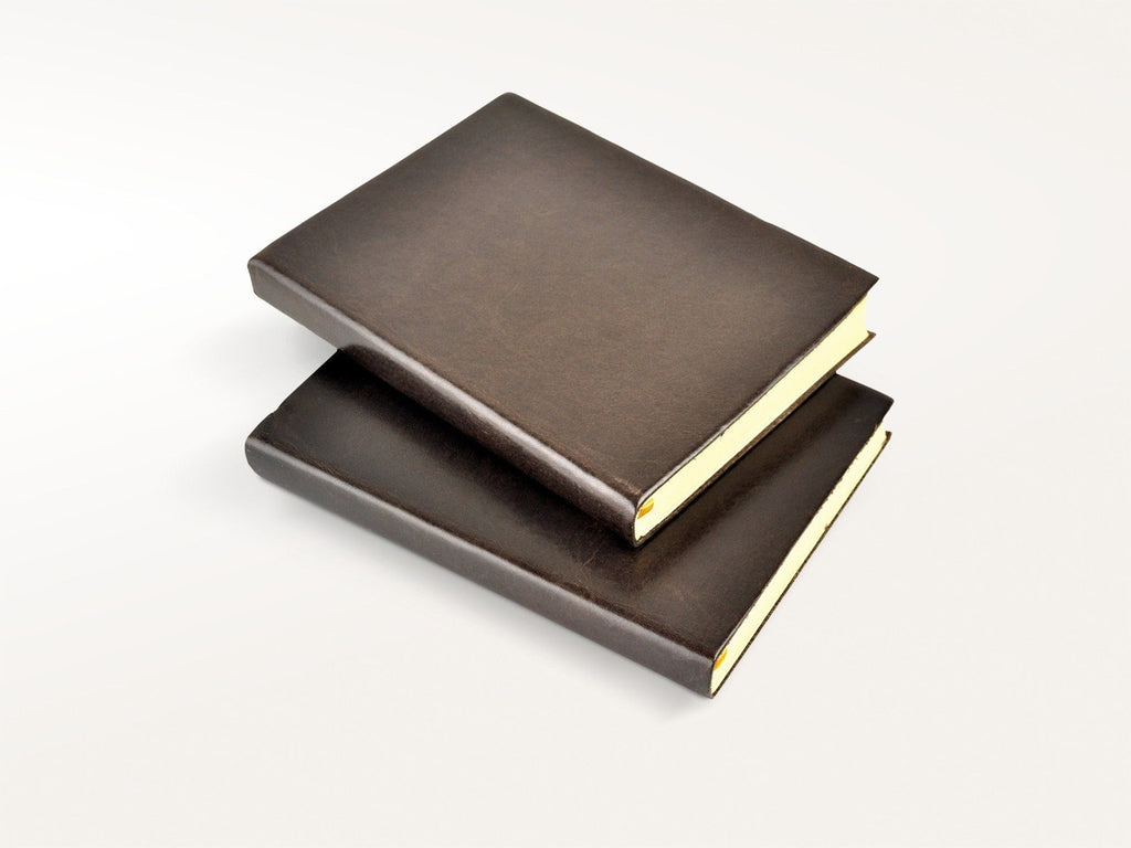 Harborview Leather Journal - Mocha-Notebooks-JB Custom Journals