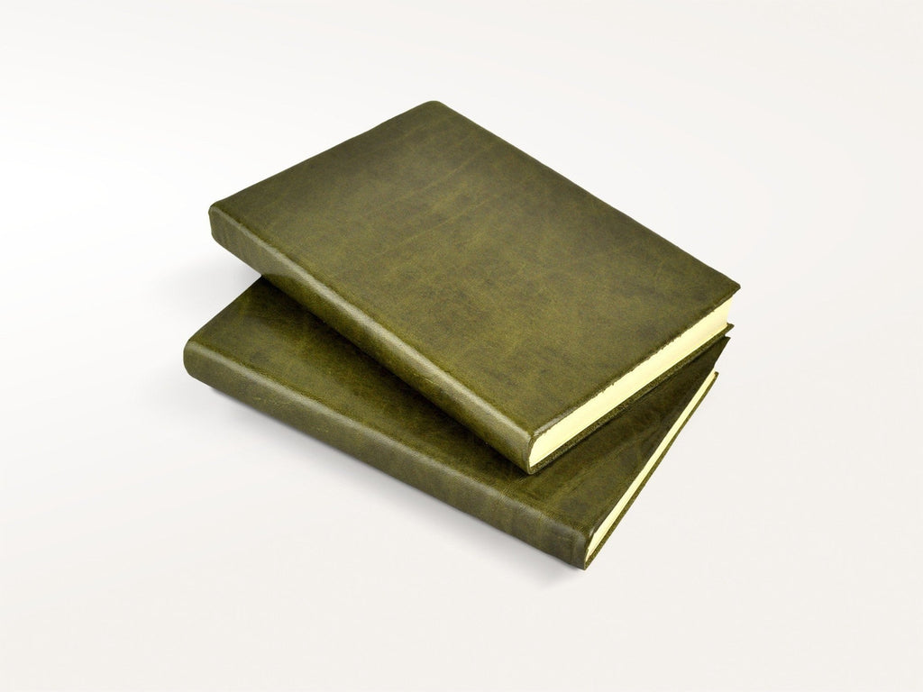 Harborview Leather Journal - Olive-Notebooks-JB Custom Journals