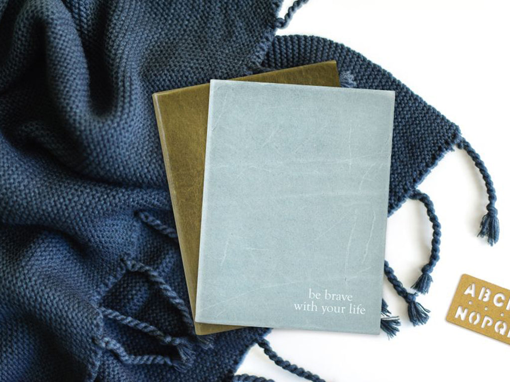 Harborview Leather Journal - Cobalt-Notebooks-JB Custom Journals