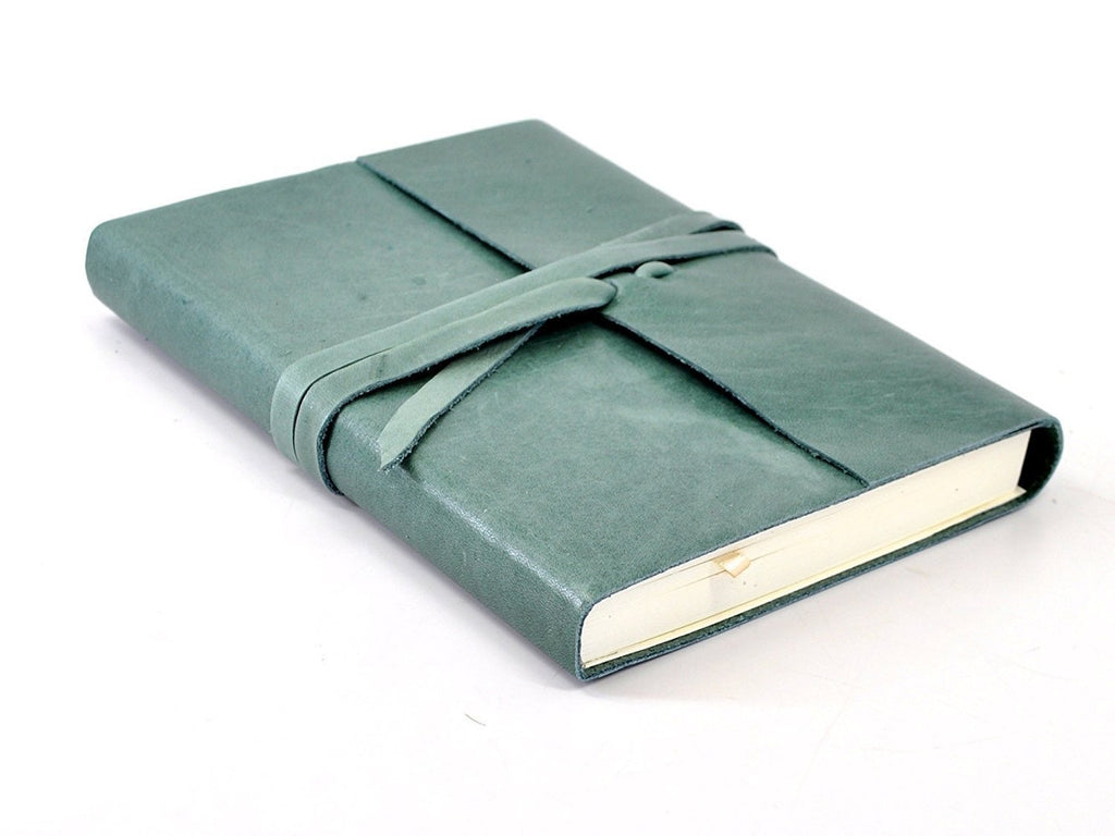 Islander Leather Journal With Wrap - Spruce-Notebooks-JB Custom Journals