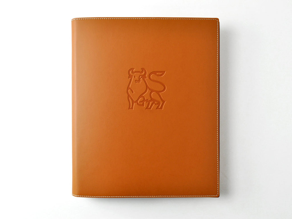 Italian Leather 3-Ring Binder - British Tan