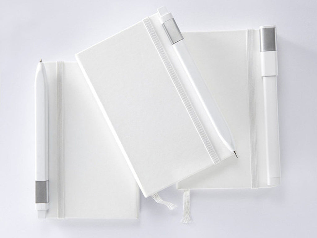 Moleskine Classic Hardcover Notebook - White-Notebooks-JB Custom Journals