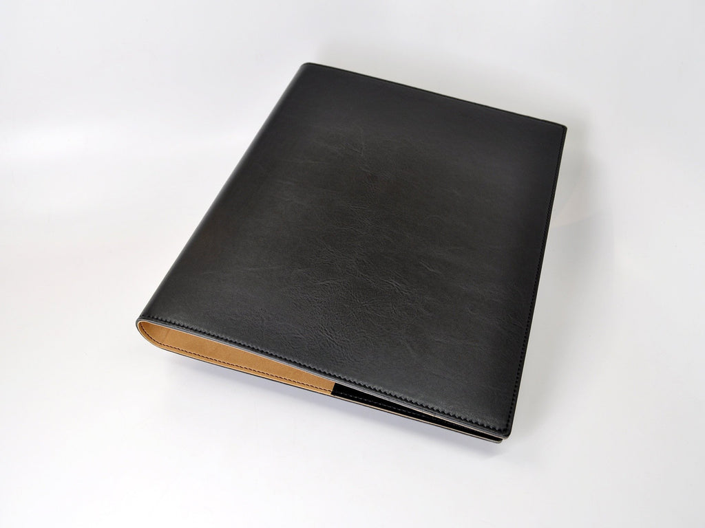 Chelsea Italian Leather 3-Ring Binder - Black