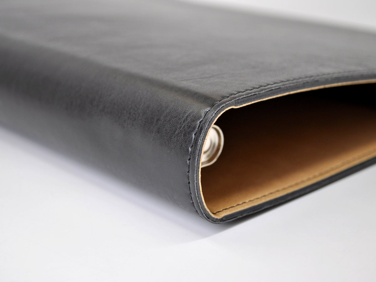 chelsea italian leather 3-ring binder