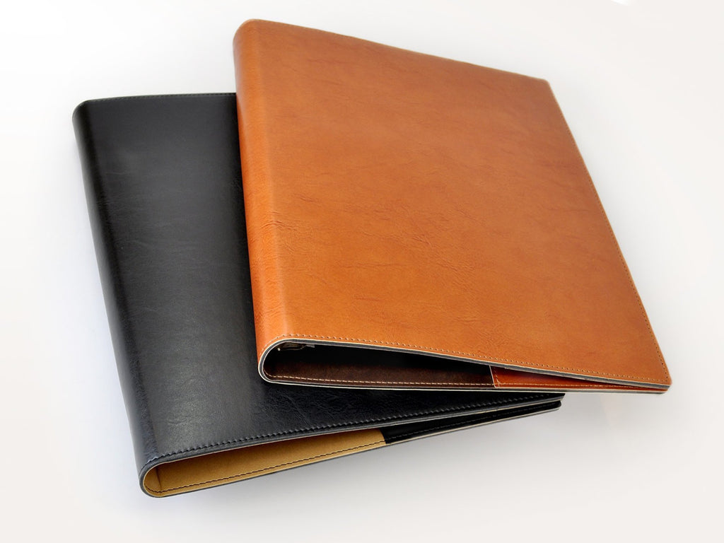 Sleek Padded Italian Leather 3 Ring Binder