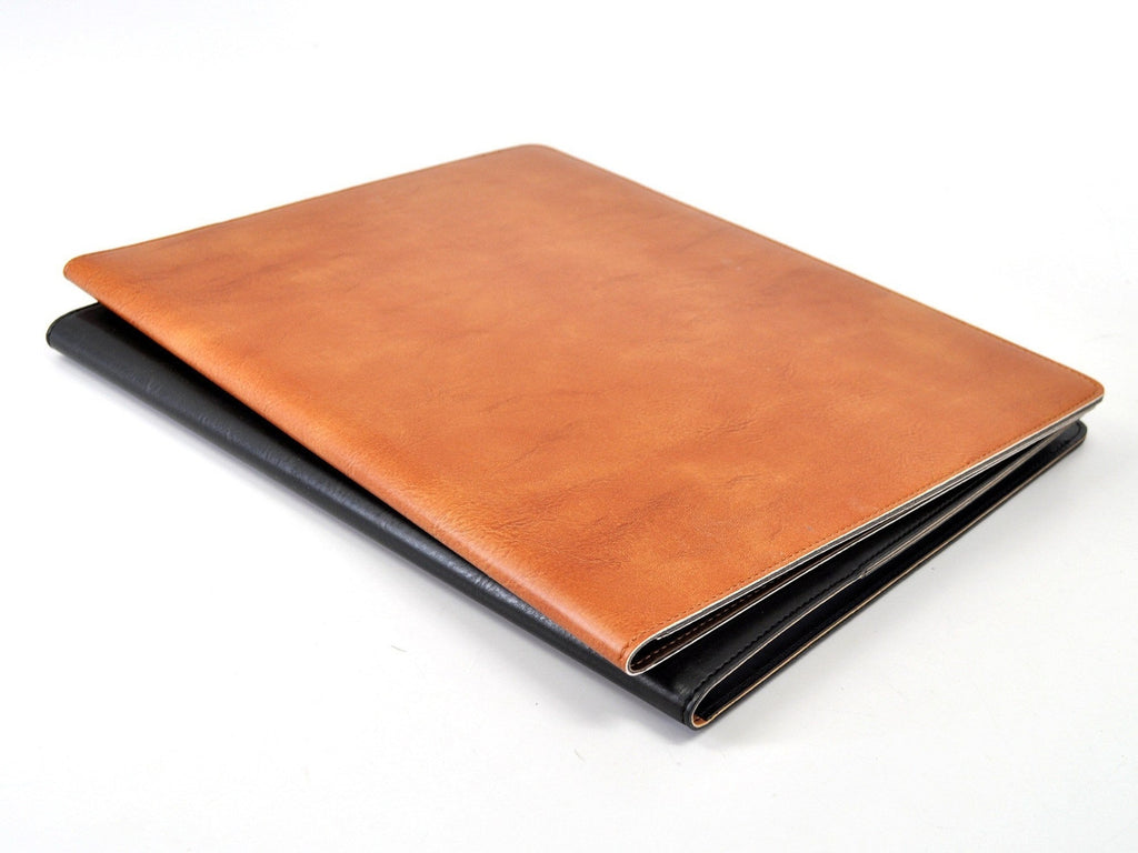 Sleek Padded Italian Leather Padfolio-Notebooks-JB Custom Journals