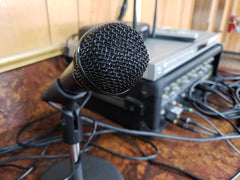 Sylvan Club's microphone and sound system set up for all events