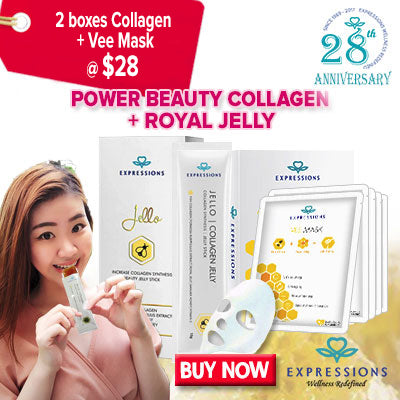 2 Box Collagen Jello + Free Vee mask box pack