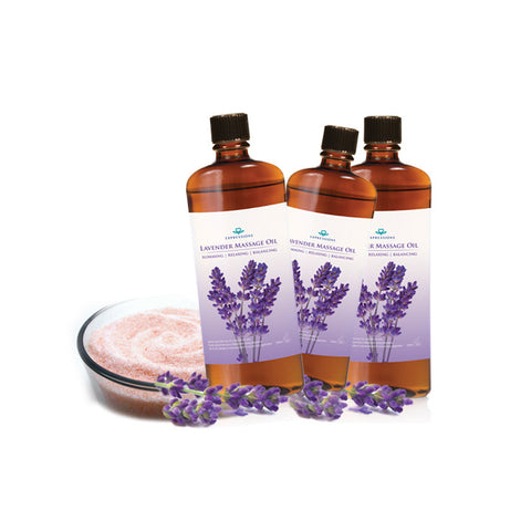 Lavender Slimming Oil Set(+Himalayan Salt) | MASSAGE, FAT BURNING [BUND008]
