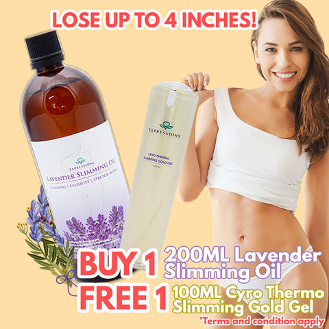 BUY 1 FREE 1 | 200ml Lavender Slimming Oil + 100ml Cryo Thermal Slimming Gold Gel [BUND087]