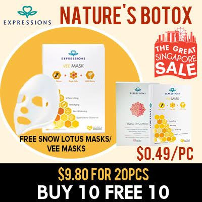 Buy 10 Vee Mask can FREE Vee / Snow lotus mask