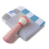 Gift Pack - Grey Stripes! Blanket and Moulin Routy Rattle