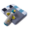 Gift Pack - Navy Stripes! Blanket and Moulin Routy Rattle