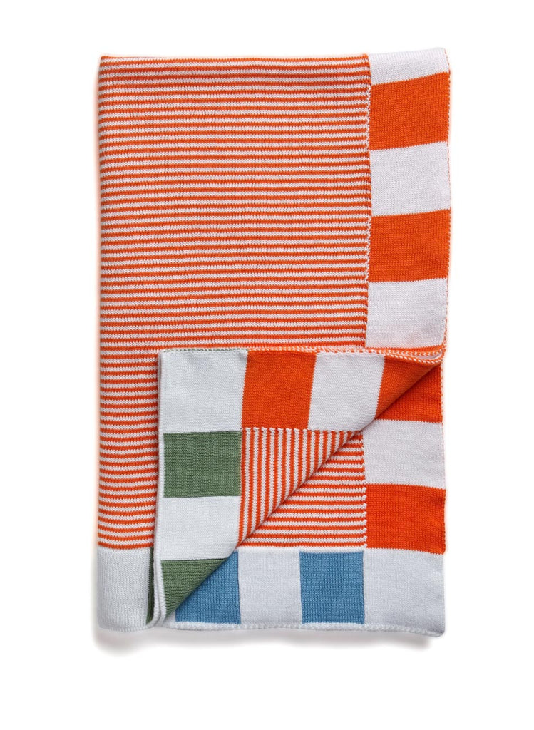 Stripes! Baby Blanket Orange