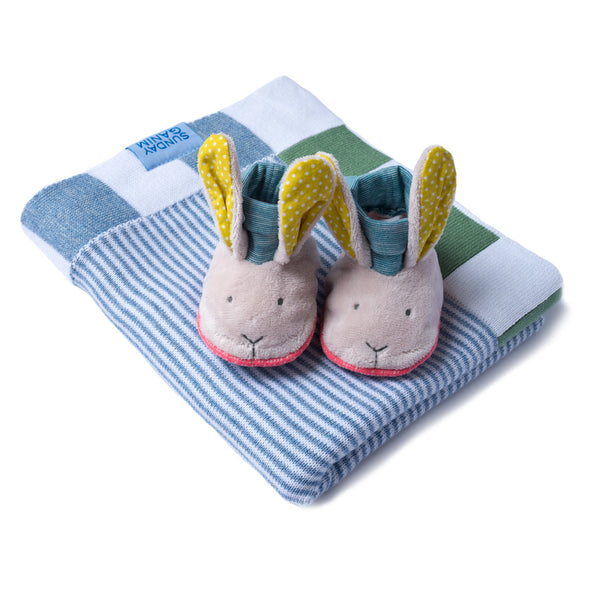 Gift Pack Baby Blanket and Moulin Routy Slippers