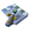 Gift Pack - Washed Denim Stripes! Blanket and Moulin Routy Rattle