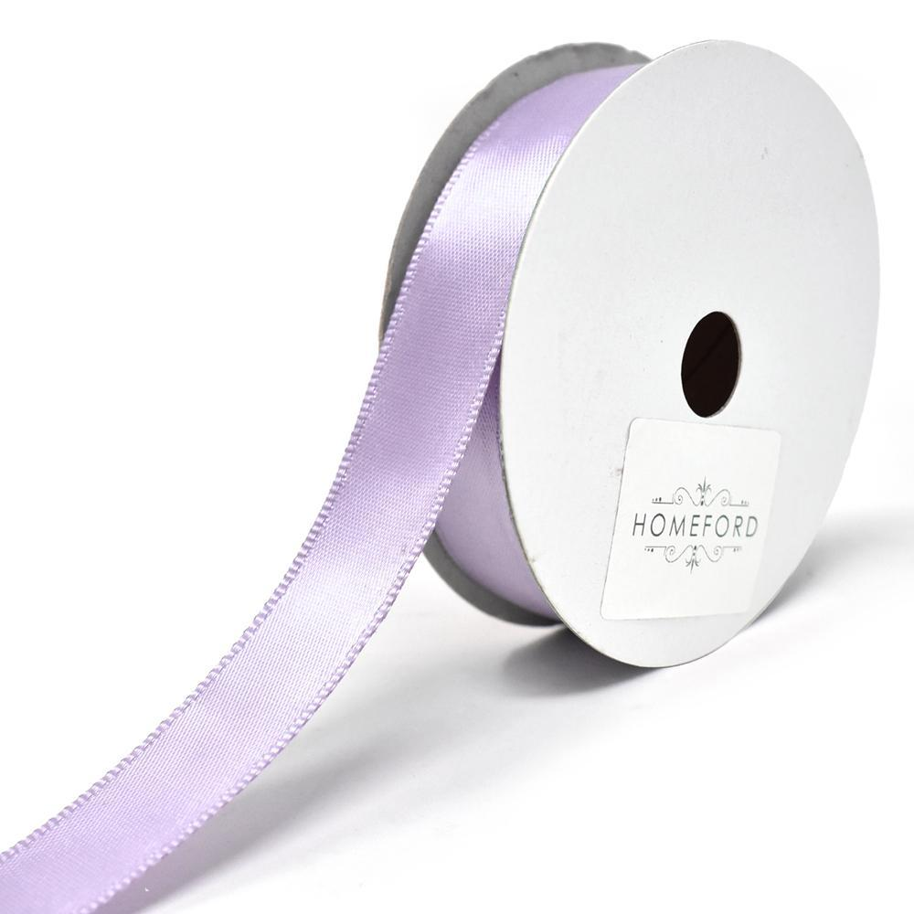 Single Faced Wired Edge Satin Ribbon, 5/8-Inch, 10-Yard, Lavender
