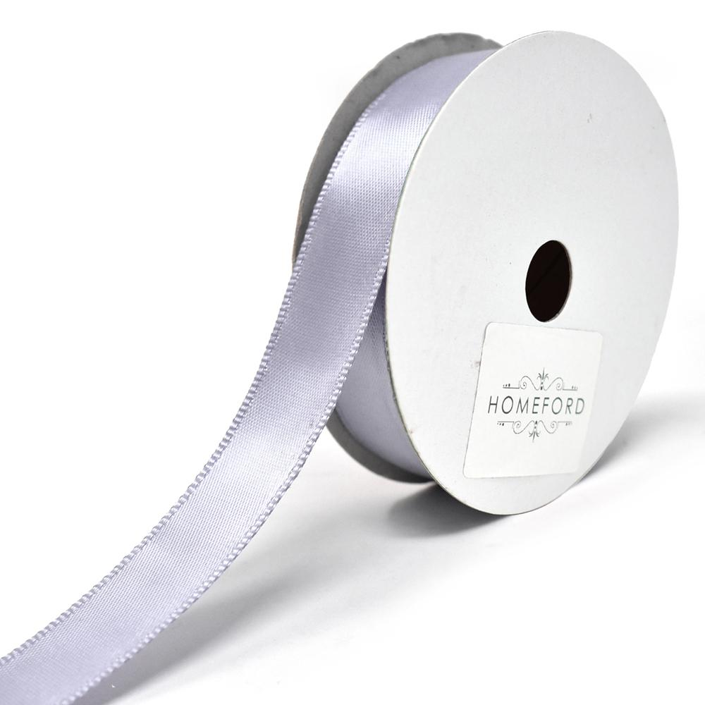 Single Faced Wired Edge Satin Ribbon, 5/8-Inch, 10-Yard, Victorian Lilac