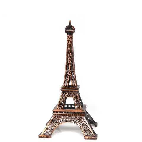 Metal Eiffel Tower Paris France Souvenir, 10-inch, Brown