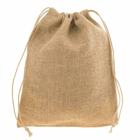 Burlap Favor Bags with Drawstrings, 12-Piece, 10-Inch x 12-Inch