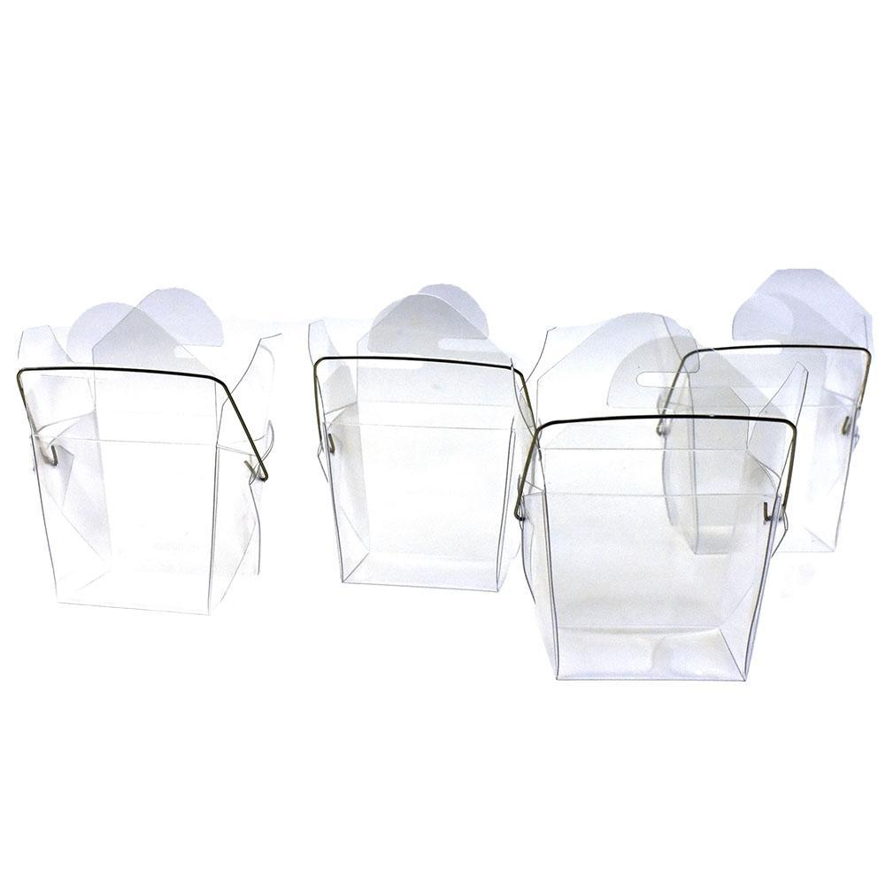 Plastic Wired Take Out Boxes, Clear, 2-3/4-Inch, 12-Count