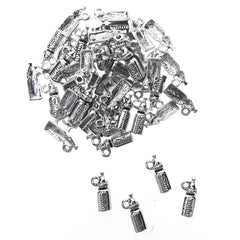 Baby Bottle Metal Charms, 5/8-Inch, 50-Count