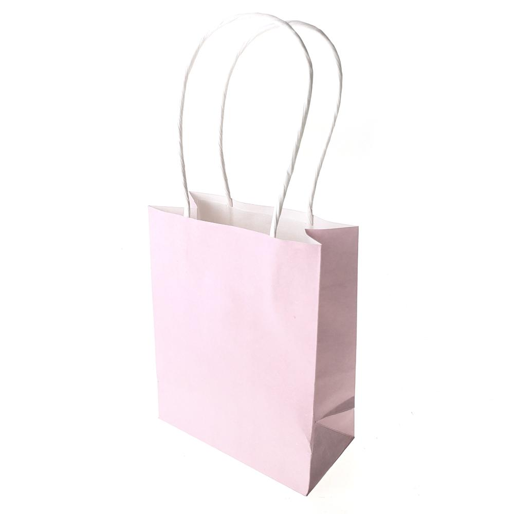 Small Party Favor Paper Treat Bags, 5-Inch, 12-Count, Pink