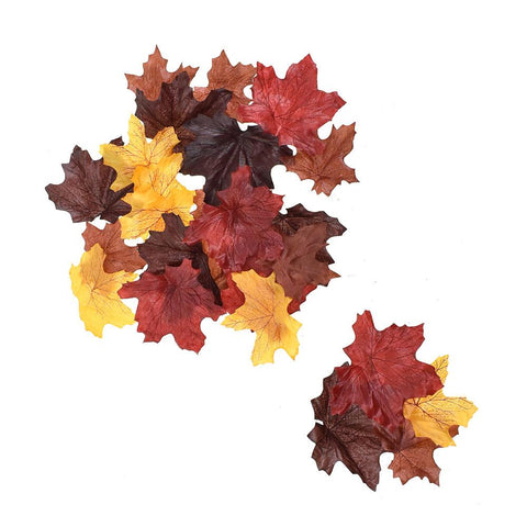 Artificial Autumn Leaves, Burgundy, 100-Piece
