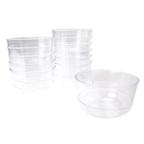 Clear Mini Round Plastic Appetizer Dessert Bowls, 3-Inch x 2-Inch, 12-Count