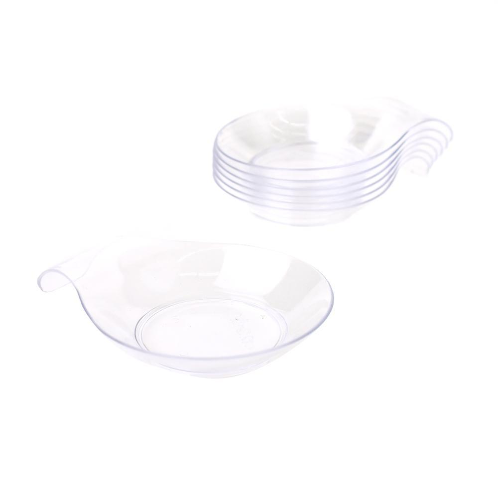 Mini Round Dessert Plate with Handle, 2-3/4-Inch, 20-Count