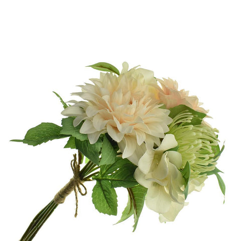 Dahlia, Protea and Hydrangea Flowers Bouquet, 15-Inch