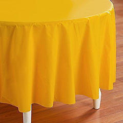 Plastic Table Cover, Round, 84-Inch