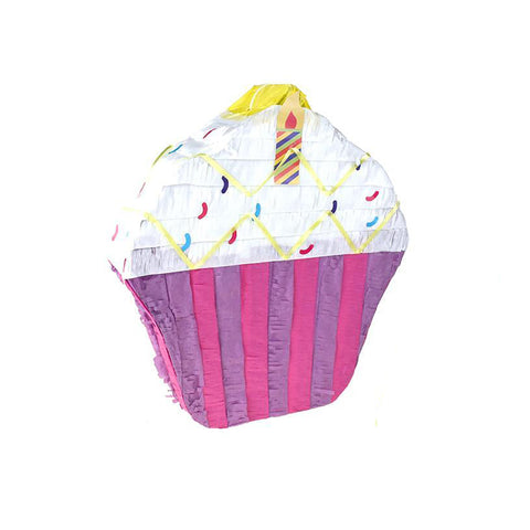 Colorful Cupcake and Lollipop Pinata, Multi-Color, Assorted Sizes, 2-Piece