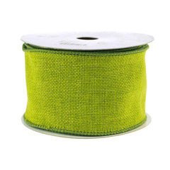 Faux Burlap Wired Edge Ribbon, 2-1/2-inch, 10-yard