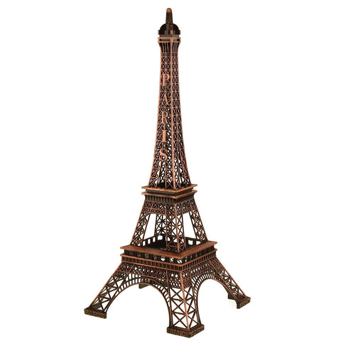 Metal Eiffel Tower Paris France Souvenir, 20-inch, Brown