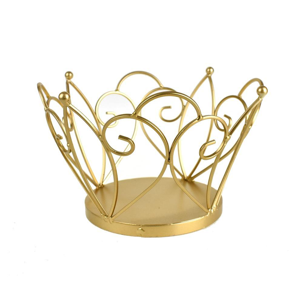 Metal Wired Crown, Gold, 5-1/2-Inch