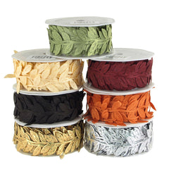 Leaf Garland Polyester Ribbon, 1/4-Inch, 10 Yards