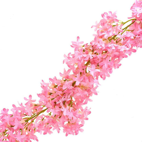 Artificial Winter Jasmine Flower Garland, Hot Pink, 66-Inch