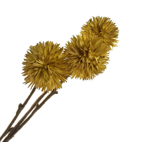 Artificial Allium Blossoms, 35-1/2-Inch, Mustard