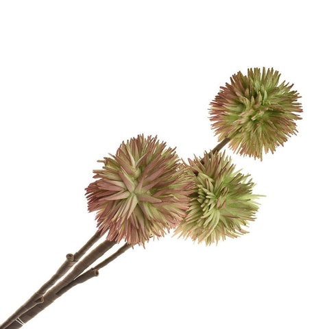 Artificial Allium Blossoms, 35-1/2-Inch, Mauve/Green