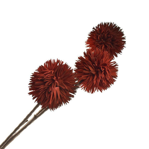 Artificial Allium Blossoms, 35-1/2-Inch, Red