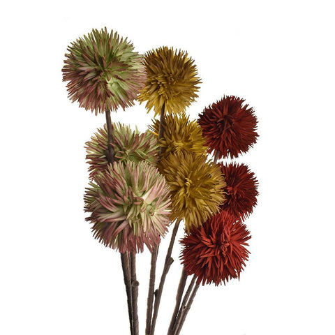 Artificial Allium Blossoms, 35-1/2-Inch