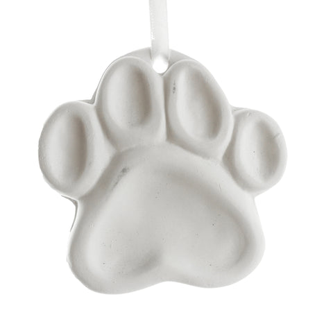 3D Plaster Animal Print DIY Ornament, 3-5/8-Inch