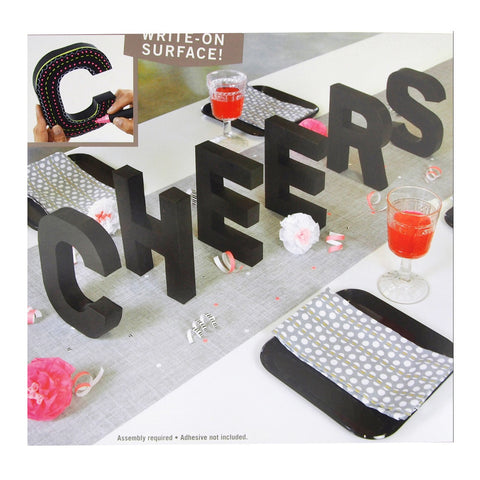 3D Cheers Letter Chalkboard Kit, 7-Inch