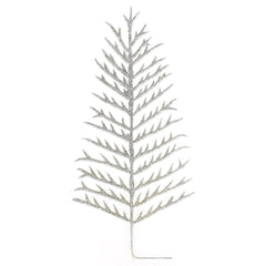 Glitter Christmas Tree Pick Stems, Evergreen, 13-Inch, 6-Piece