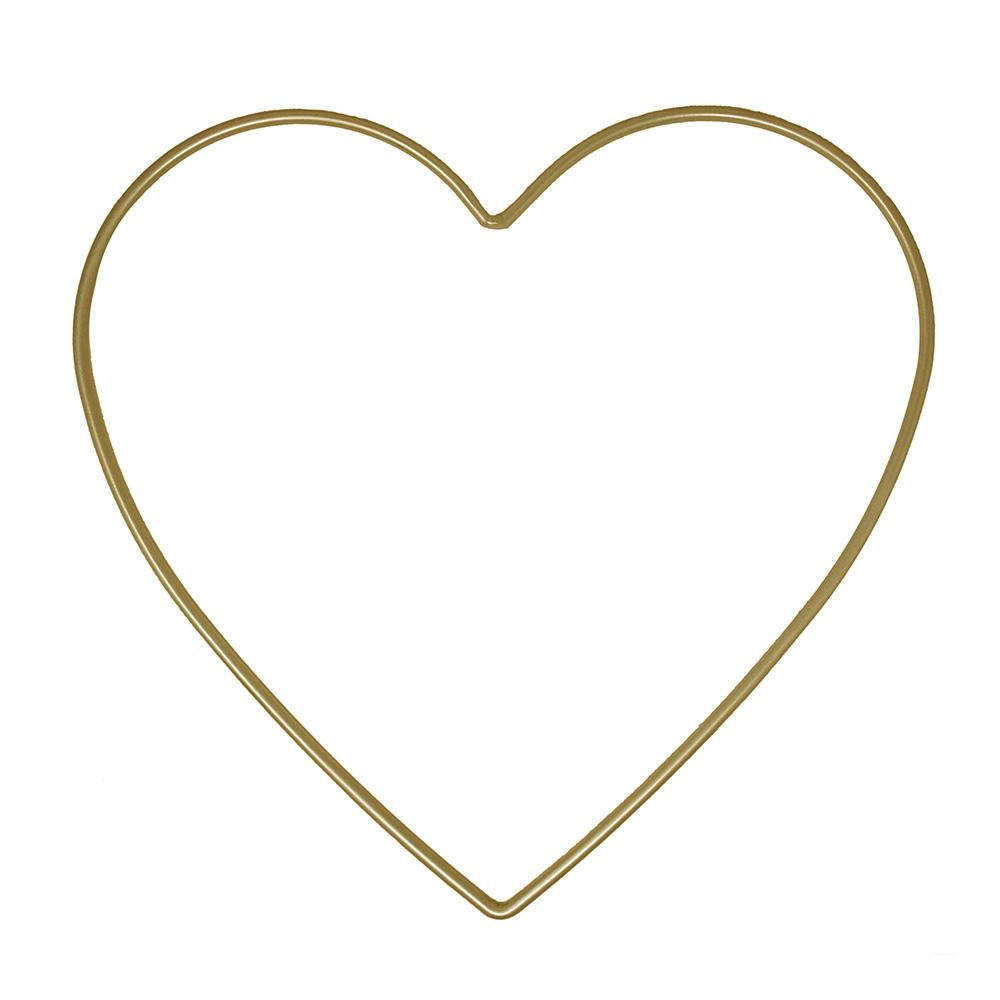 Metal Heart Macrame Ring, Gold/Silver, 12-3/4-Inch, 2-Piece